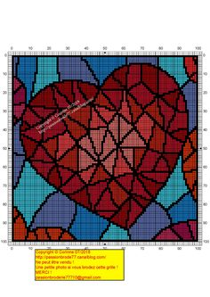 Cross Stitch Heart, Cross Stitch Flowers, Plastic Canvas Crafts, Plastic Canvas Patterns, Bead Loom Patterns, Cross Stitch Patterns, Cross Stitching, Cross Stitch Embroidery, Thread Art