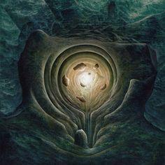 """Dans le cercle de pierres"" Huile sur toile. (30 x 30 cm). Pascal Ferry. ""In the stone circle"" Oil on canvas . (11,81 x 11,81 inch). Pascal Ferry. A VENDRE/FOR SALE"