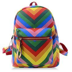 Trendy Rainbow and Color Block Design Women's Satchel Cheap Handbags Online, Wholesale Handbags, Rainbow Bag, Block Design, Baby Kids Clothes, Sammy Dress, Fashion Backpack, Cool Style, Satchel