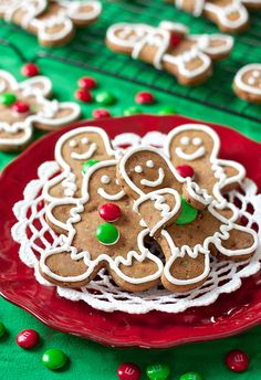 Erica's Sweet Tooth » M&M Gingerbread Cookies