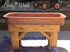 Hometalk :: Repurposed Vintage Wagon Table