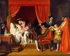 Francis I of France receives the last Breath of Leonardo da Vinci, by Jean-Auguste-Dominique Ingres, imagined & painted in Michelangelo, Leo Tolstoi, Renaissance, Francis I, Auguste, Dominique, Oil Painting Reproductions, Oeuvre D'art, Art History
