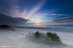 Sunset at the beach, Vlieland, the Netherlands