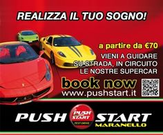 Drive a dream in Maranello with www.pushstart.it