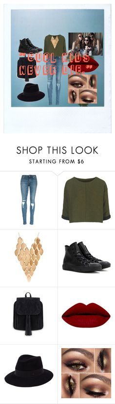 """""""Cool kids"""" by mermaid-off-duty ❤ liked on Polyvore featuring Topshop, Charlotte Russe, Converse, Wildfox, Maison Michel, women's clothing, women's fashion, women, female and woman"""