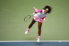 Williams vs. Larsson   September 03, 2016 - Serena Williams in action against Johanna Larsson during the 2016 US Open at the USTA Billie Jean King National Tennis Center in Flushing, NY.