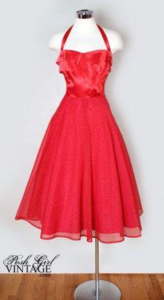 Evening Dresses for Women - Bing Images Vintage Outfits, Vintage Red Dress, Vintage Dresses, Vintage Fashion, 1940s Fashion Dresses, Fashion Outfits, Party Mode, Posh Girl, Vintage Mode