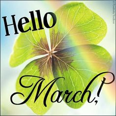 Hello March! Via Positivity Toolbox on Facebook