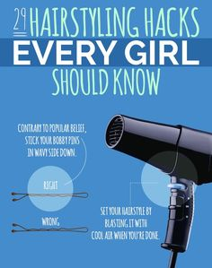 29 Hairstyling Hacks Every Girl Should Know (via BuzzFeed)
