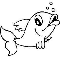 Dessin poisson d'avril 2 a colorier