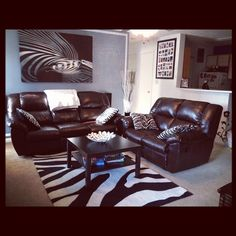 Red Hot Living Room With Zebra Print Accentsthis Is Exactly The Look Im Going For