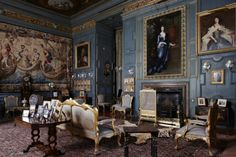 The Blue Drawing Room at Powis Castle, Powys. ©National Trust Images/Paul Highnam