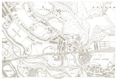 An old map of the Bolton - Bradford Park area, Lancashire in 1930 as an instant download and large format print