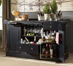 Love all the storage on this and the bottle rack is awesome! Very classy looking bar.