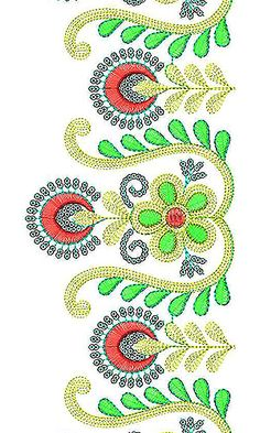 Awesome Cording With Sequins Lace Border Embroidery Design