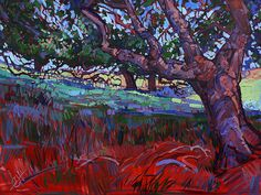 Under the Oaks II Painting by Erin Hanson