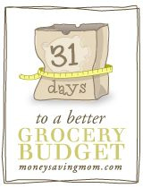 31 Days to a better grocery budget. I'll have to check this out. Might be useful.