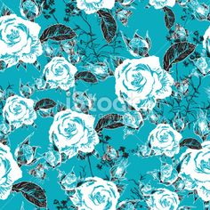 Seamless background with roses and butterflies Royalty Free Stock Vector Art Illustration