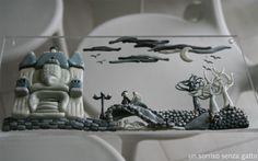 Un sorriso senza gatto: Tim Burton inspired landscape
