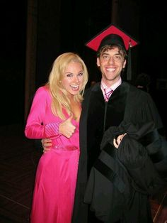 """Christian Borle and Laura Bell Bundy as Emmett Forrest and Elle Woods in """"Legally Blonde the Musical"""" on Broadway!!"""