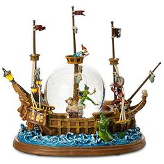 Lovvvve This!   Jolly Roger Ship Peter Pan Snowglobe | Snowglobes | Disney Store