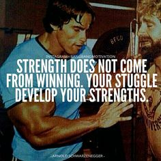 Strength does not come from winning. Your struggles develop your strengths. When you go through hardships and decide not to surrender, that is strength. - @Schwarzenegger - #BangBangMotivation