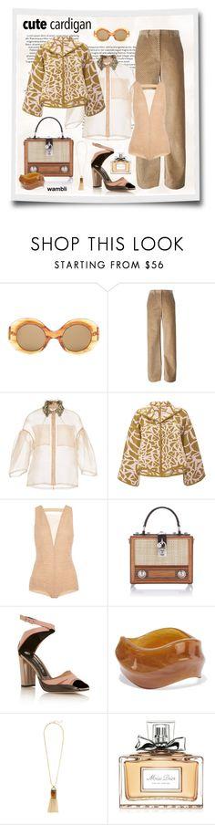 """Wambli Cute Cardigan"" by wambliwakan ❤ liked on Polyvore featuring The Row, Maison Margiela, Lela Rose, Pepa Pombo, Vionnet, Dolce&Gabbana, Prabal Gurung, Kenneth Jay Lane, Christian Dior and cutecardigan"
