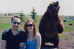 Yeah right Mikey There`s a big old Grizzly bear behind us , Grow up huh !