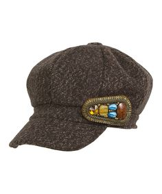 This Magid Brown Beaded Newsboy Hat by Magid is perfect! #zulilyfinds