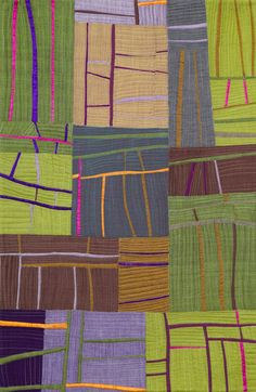 Road Block by Annie White. Festival of Quilts 2014 - Auckland Quilt Guild Inc. Original design using silks and shot cottons.