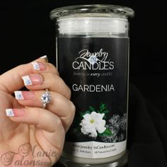 Jewelry in Candles Review with Simple French Manicure