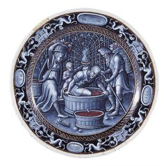 The month of September, the harvest, Pierre Reymond, Limoges, History Of Wine, Art History, Art Antique, Antique Jewelry, Grisaille, The Potter's Wheel, Glazes For Pottery, Objet D'art, Wine Making
