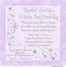 Winter Party Invitation Ideas