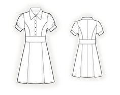 Dress In Sport Style  - Sewing Pattern #4115 Made-to-measure sewing pattern from Lekala with free online download.