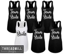 6 Bridal Party Shirt Set // Bachelorette Party Shirts // Set of 6 Bridesmaid Shirt // Wedding Party Gift // Wedding Party Shirts // Bride