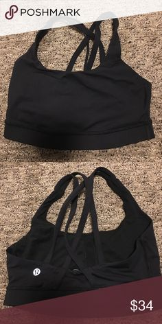 Lululemon sports bra Only worn once size 4 but I ripped the tag out cause it was itchy perfect condition lululemon athletica Intimates & Sleepwear Bras