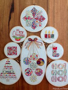 Embroidery Hoop Christmas Tree