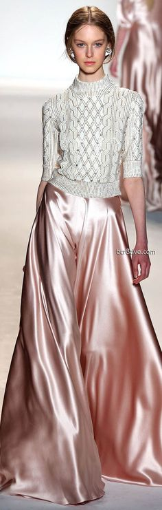 Jenny Packham - this blush pink is heavenly, but I would not pair it with that type of blouse