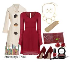 """""""Ring My Bells"""" by shoppe23online ❤ liked on Polyvore featuring J.W. Anderson, Gianvito Rossi, MAC Cosmetics, OPI and bellsleevedress"""