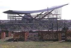 USSR Pavilion in construction 1966 Expo 67, Constructivism, Montreal Quebec, World's Fair, Canada, History, Politics, Construction, Science