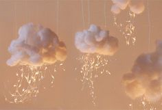 Cloud String Lights - how sweet!