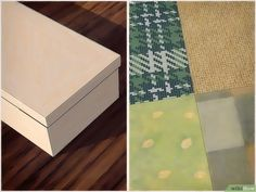 How to Cover a Shoebox: 15 Steps (with Pictures) - wikiHow Scrapbook Paper Projects, Paper Glue, Calligraphy Pens, Inside The Box, Fabric Markers, Small Bottles, Burlap Ribbon, Glue Crafts, Box With Lid