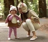 Mom & daughter matching Owl Costumes! Pretty precious!