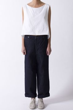 Navy Cinch Jean