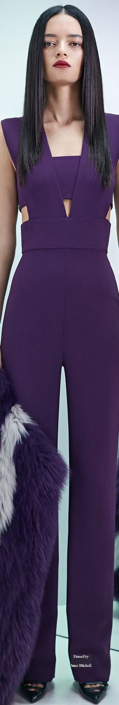 Cushnie et Ochs Pre-Fall 2015 Collection Purple Hues, Shades Of Purple, Fall Fashion 2016, Womens Fashion, Cool Style, My Style, All Things Purple, Elegant Woman, Fall 2015