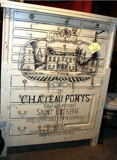 Chateau Painted Dresser Holz, Malerei, Milch Lackmöbel, Decoupage Möbel,  Ausgefallen Bemalte Möbel