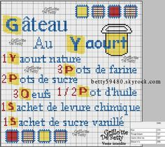 cuisine - kitchen - gâteau - point de croix-cross stitch - broderie-embroidery- Blog : http://broderiemimie44.canalblog.com//