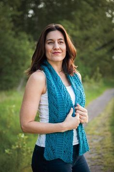 Duo Columns Reversible Scarf - Knitting Patterns and Crochet Patterns from KnitPicks.com