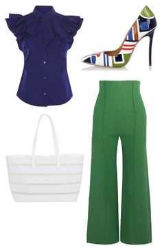 """""""Blue green dream"""" by ladyofchange on Polyvore featuring Emilia Wickstead, BUCO and Dsquared2"""