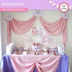Decoracion de cumpleaños de princesas para imprimir